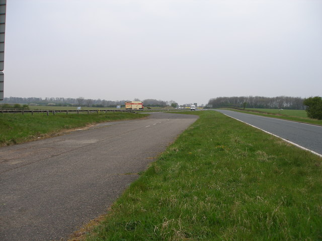 the old a19 dual carriageway leaves the new a19 - geograph.org.uk - 407666.jpg