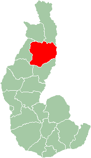 Map of former Toliara Province showing the location of Mahabo (red).