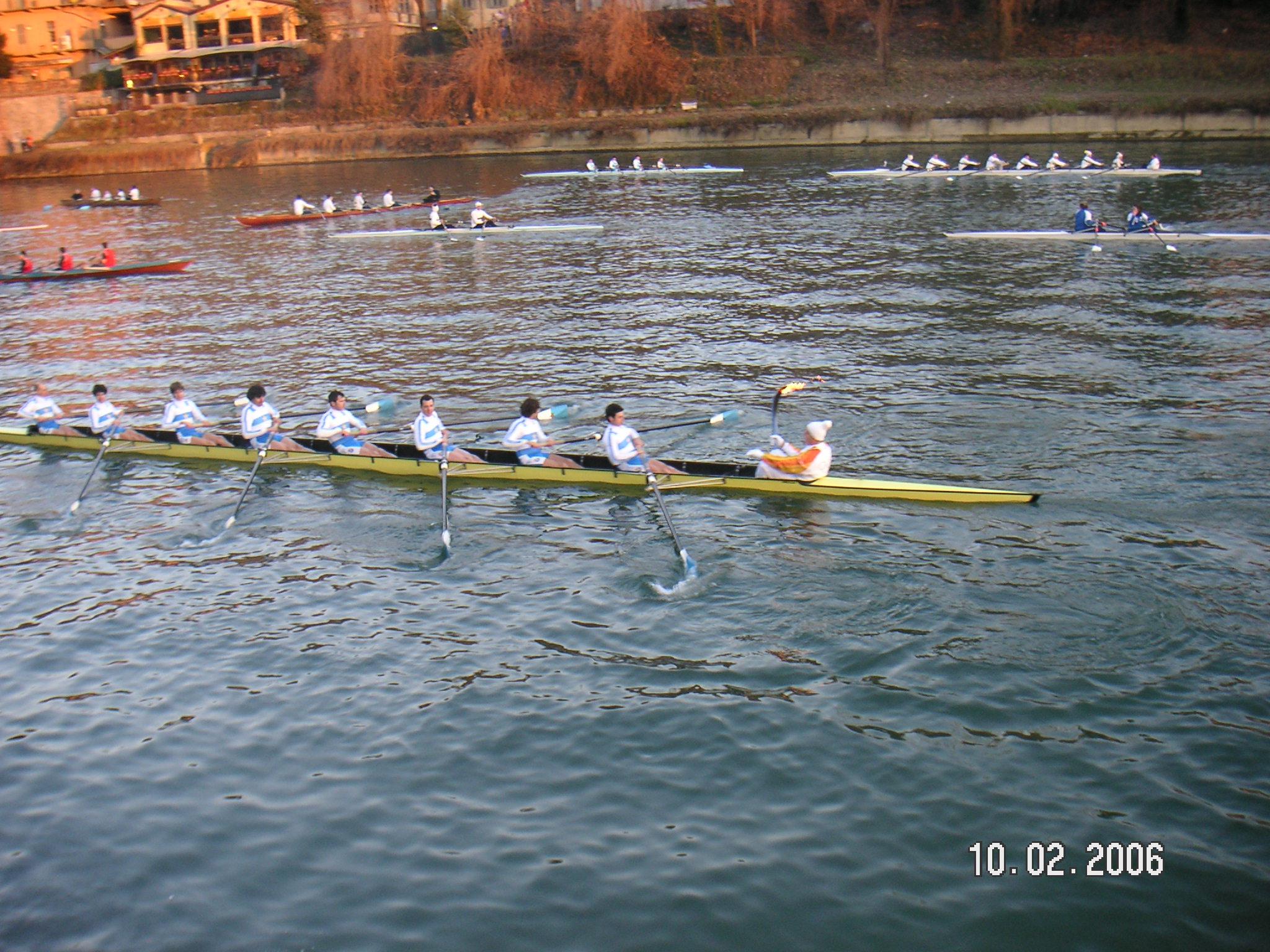 Torino 2006 olympic torch on canoe2.jpg