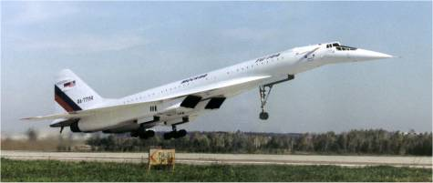 "Supersonique russe Tupolev Tu-144 ""Concordski"" Tu-144"