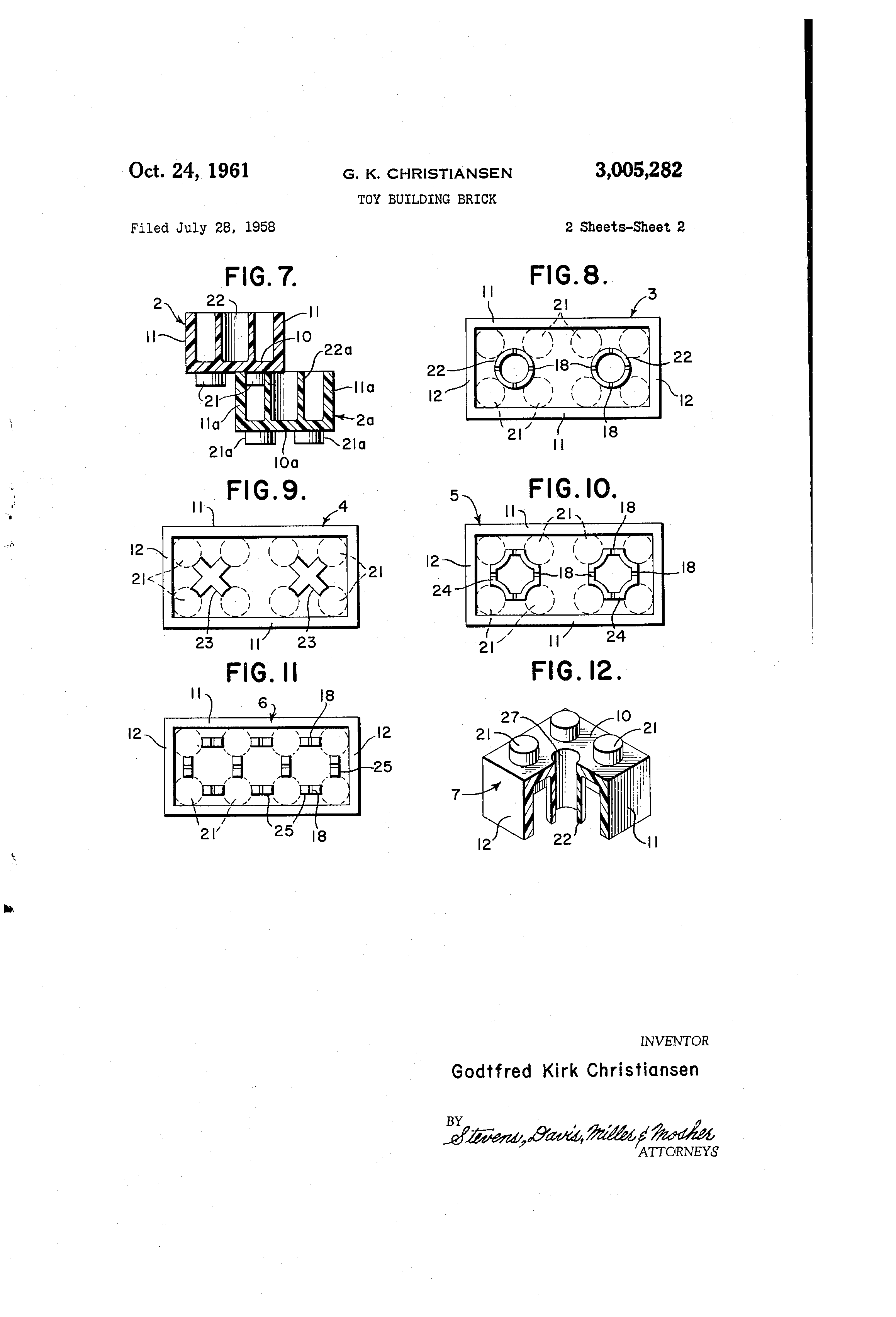 File:US3005282A Toy building brick (1958 filed, 1961