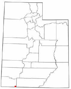 Location of Hildale, Utah