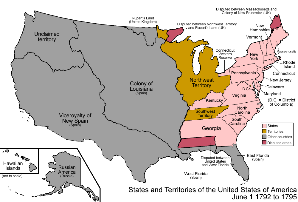 Image result for map of kentucky 1792