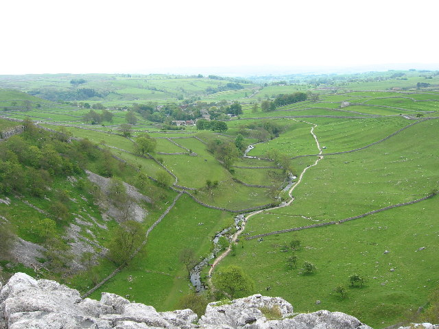 View from top of Malham Cove - geograph.org.uk - 35369