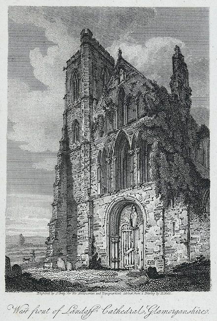 West front of Landaff cathedral, Glamorganshire