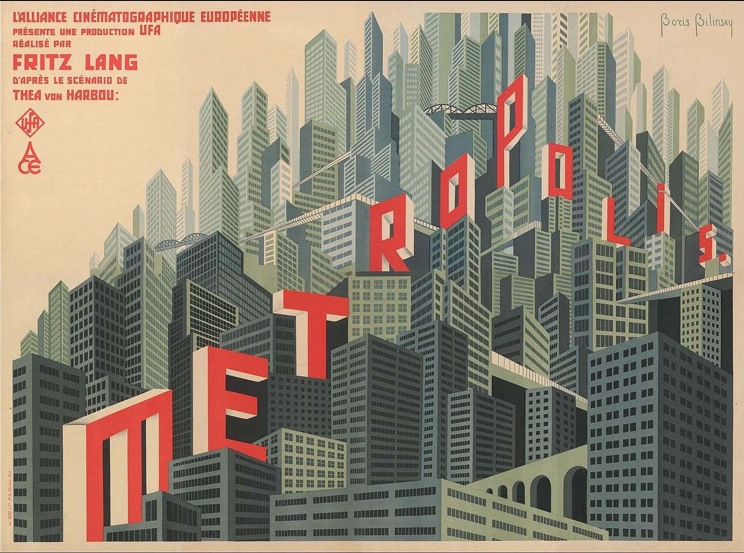 Votre dernier film visionné - Page 4 1927_Boris_Bilinski_%281900-1948%29_Plakat_f%C3%BCr_den_Film_Metropolis%2C_Staatliche_Museen_zu_Berlin