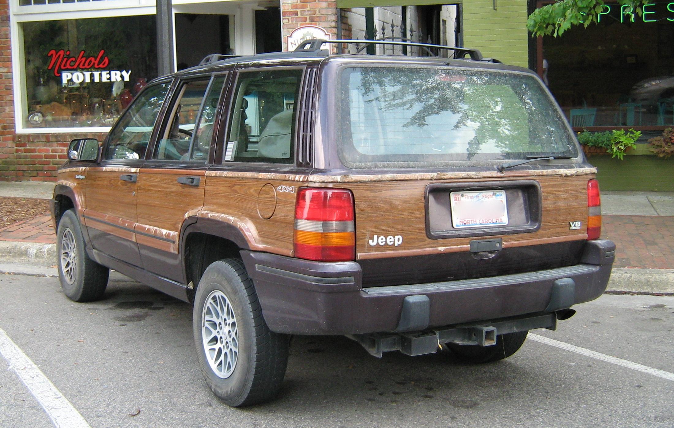 File 1993 Jeep Grand Wagoneer Black Cherry Rear Jpg