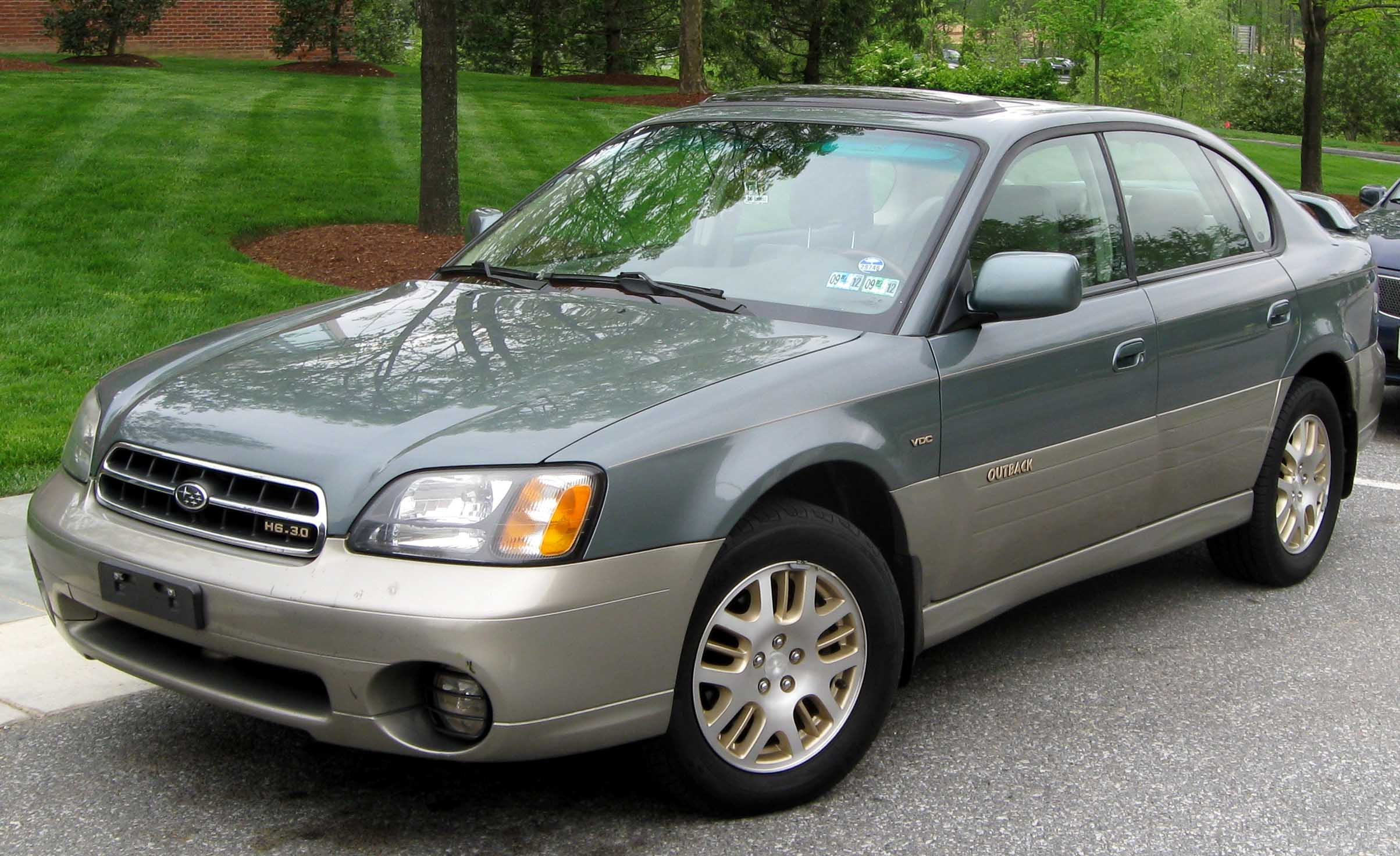 Subaru Legacy Lifted >> File:2nd Subaru Outback sedan.jpg - Wikimedia Commons