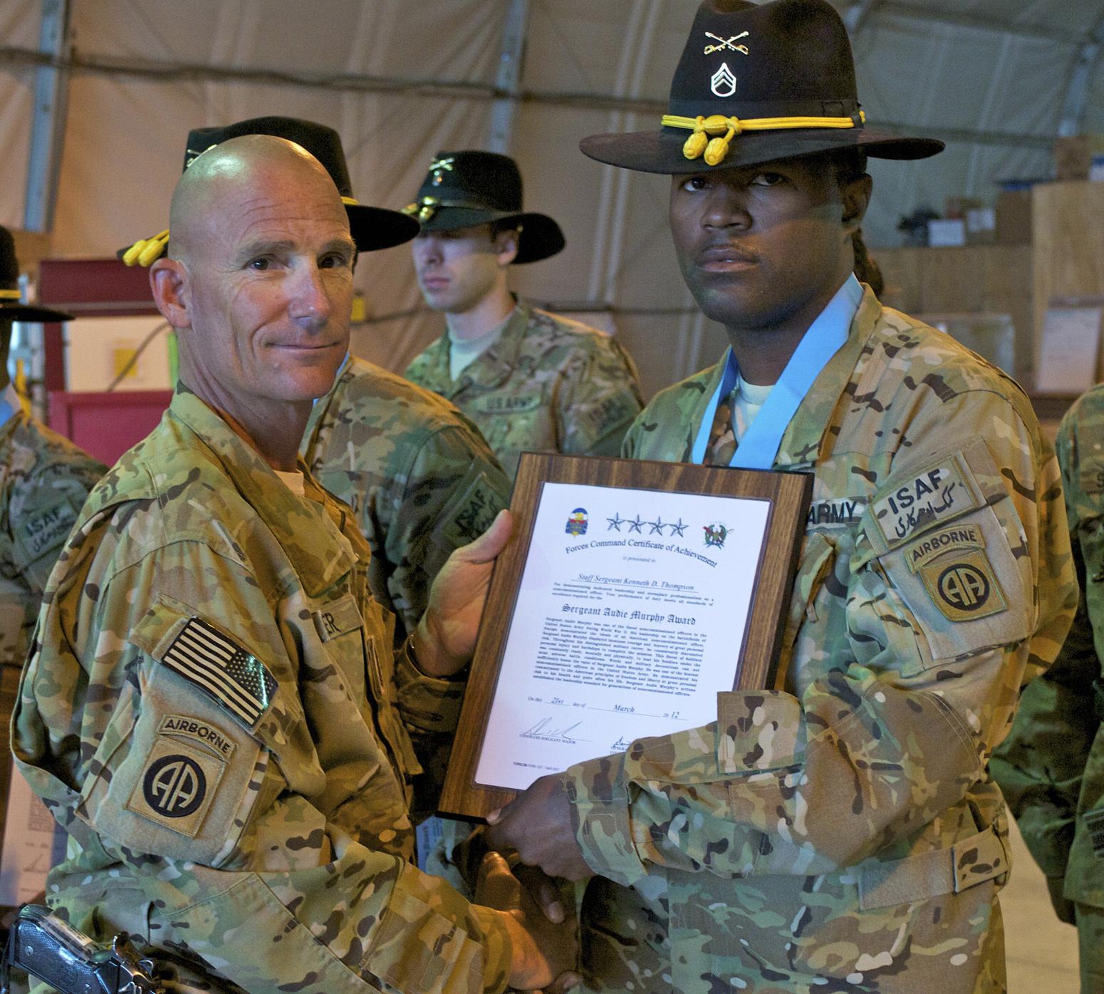 Sergeant Audie Murphy Club Recommendation Letter