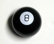 Picture of the face of a magic 8-ball taken by...