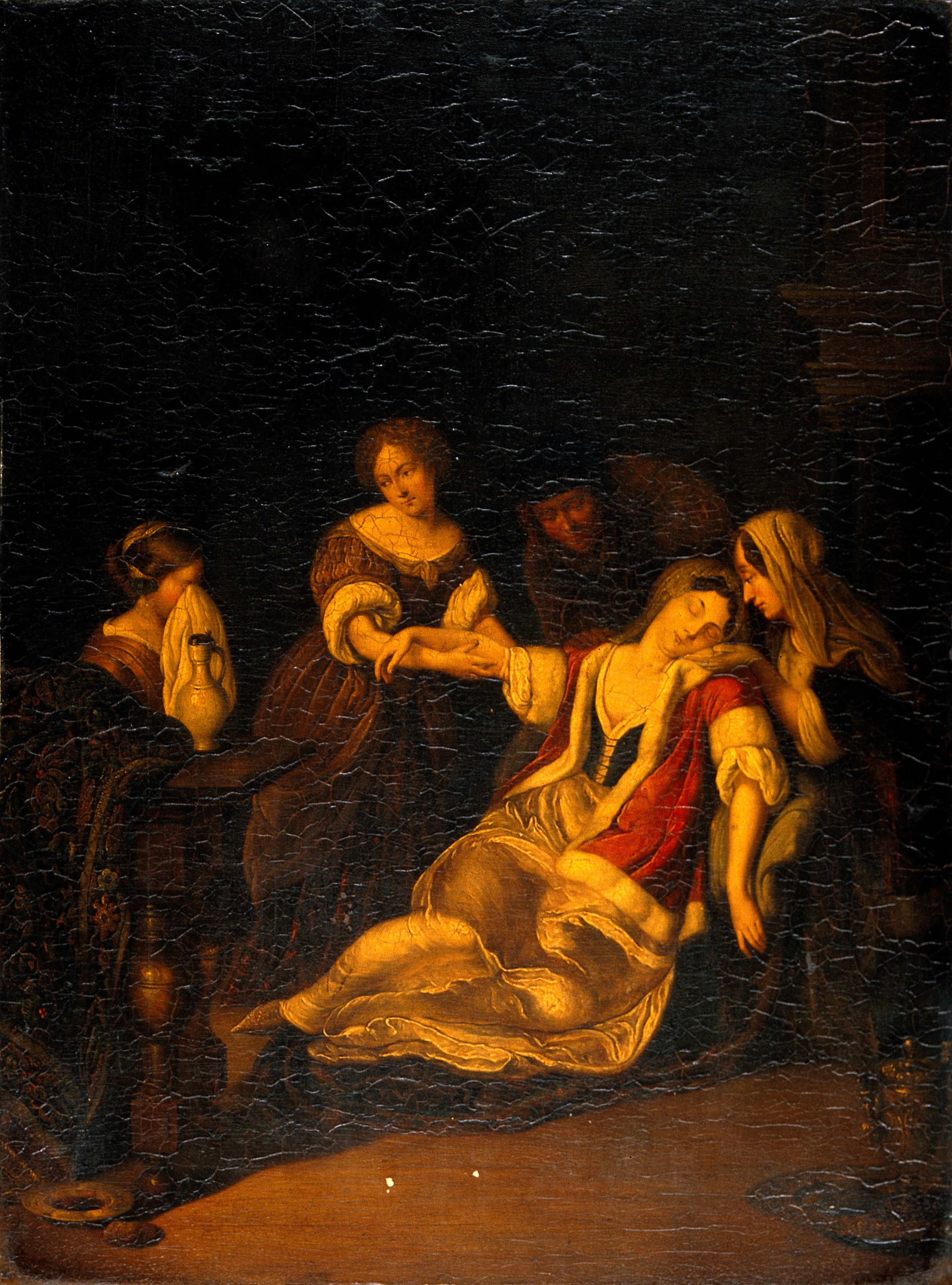 FileA Lady Fainting After Bloodletting Oil Painting Eglon Wellcome V0017315