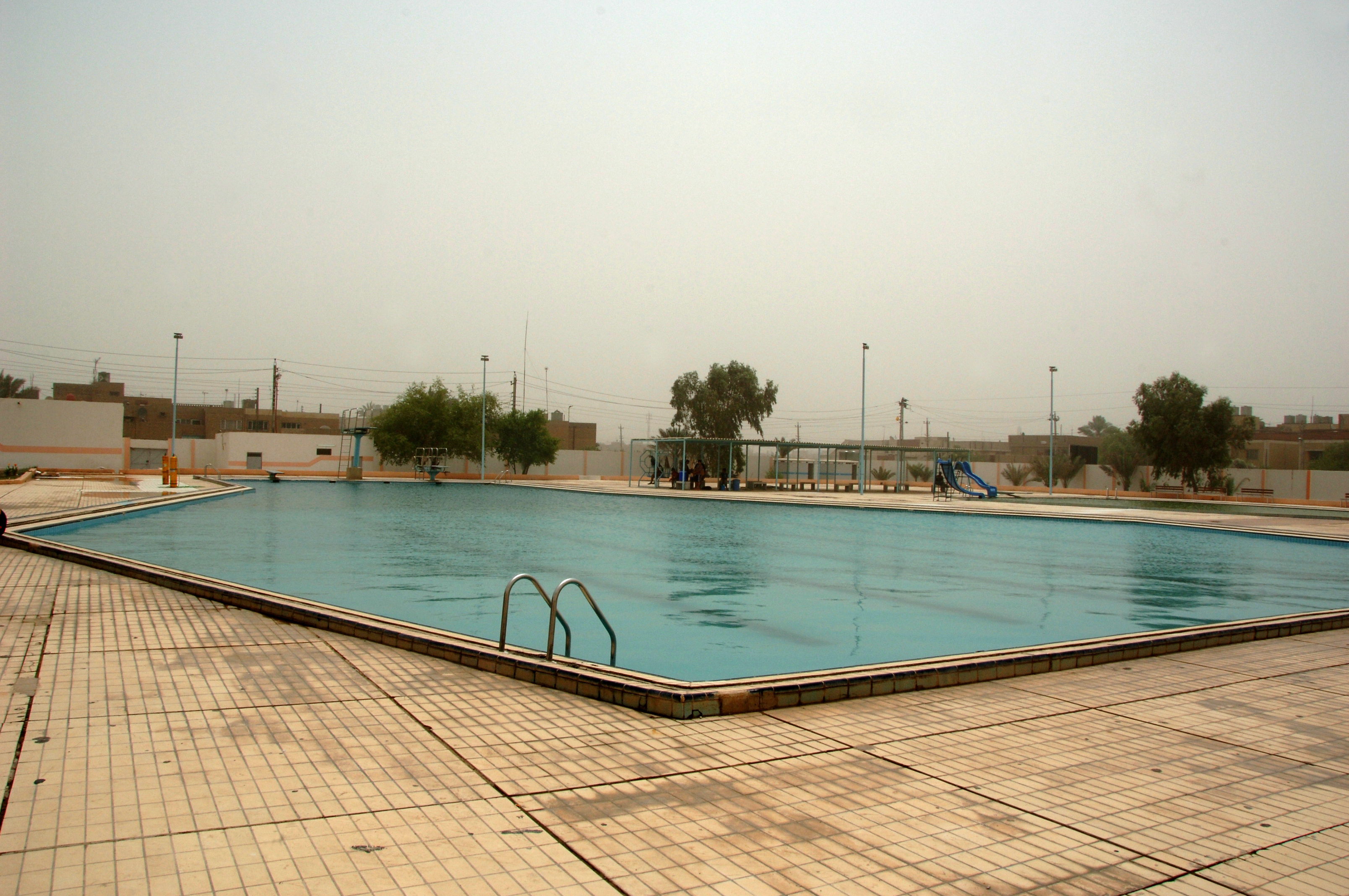 File A Wide View Of One Of The Newly Constructed Pools At The Jadida Public Swimming Pool