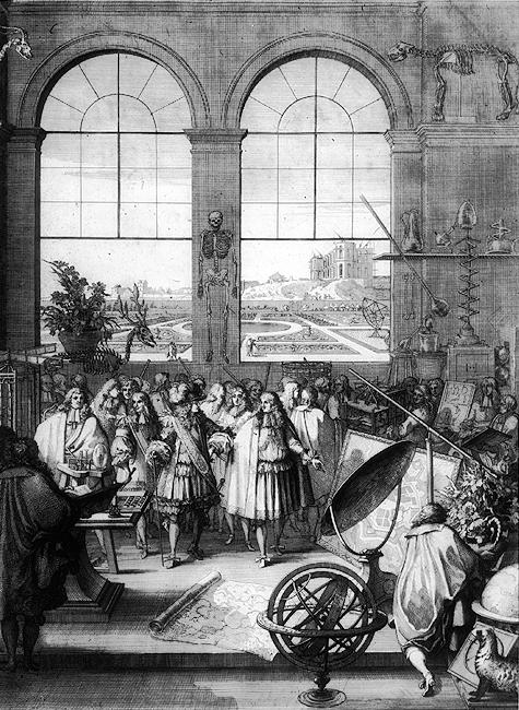 Depiction of Academia de Ciencias de Francia