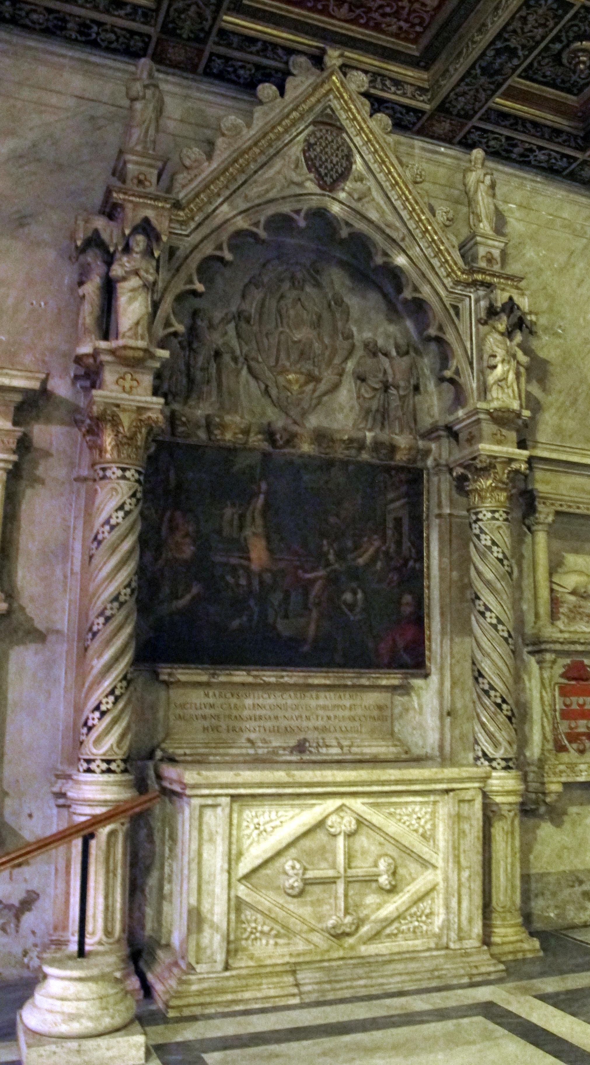 File:Altare con edicola già del monumento al cardinale filippo d'alençon (m