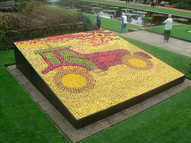 Apple display at Wisley - geograph.org.uk - 655691