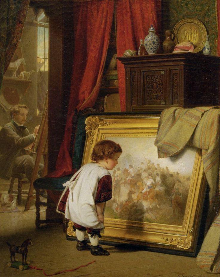 August Friedrich Siegert - Die kleine Kunstkennerin 1863.jpg