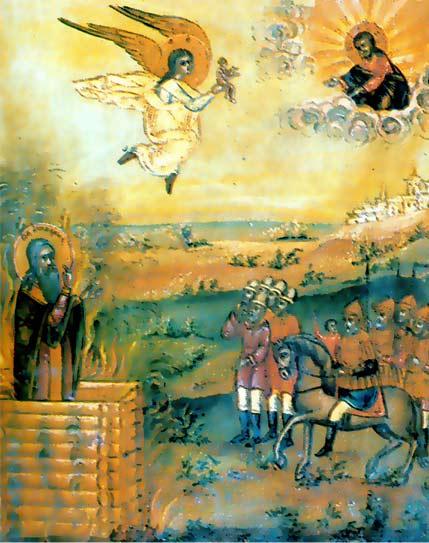 Мученичество Аввакума. Старообрядческая икона