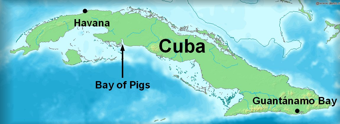 Bay Of Pigs Invasion Wikipedia - Map of cuba and southeast us