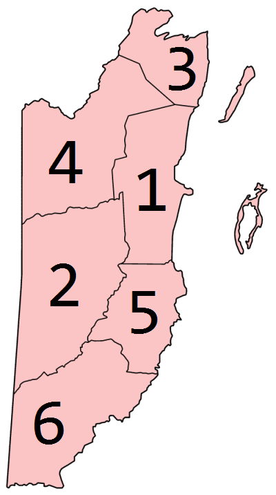 Districts of Belize