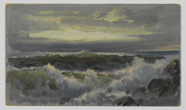 File:Brooklyn Museum - A Rough Surf - William Trost Richards - overall.jpg