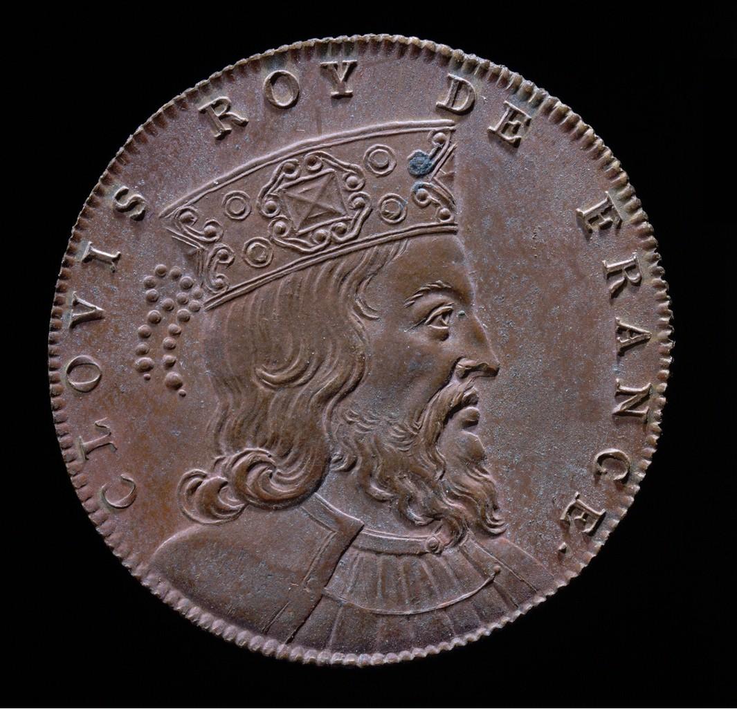 Munt met portret van Clovis (Artistieke impressie)
