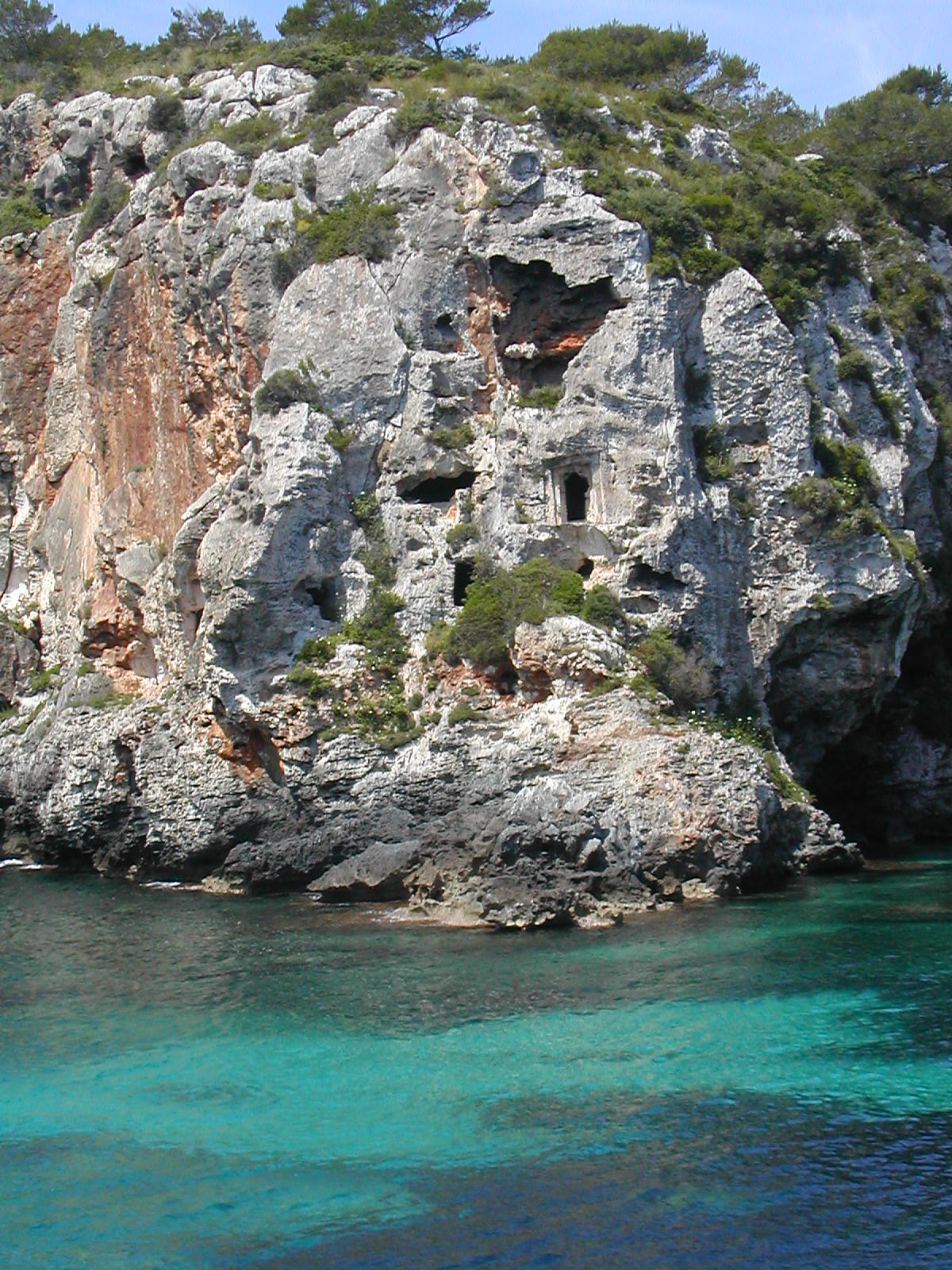 One of the stunning coves in Menorca