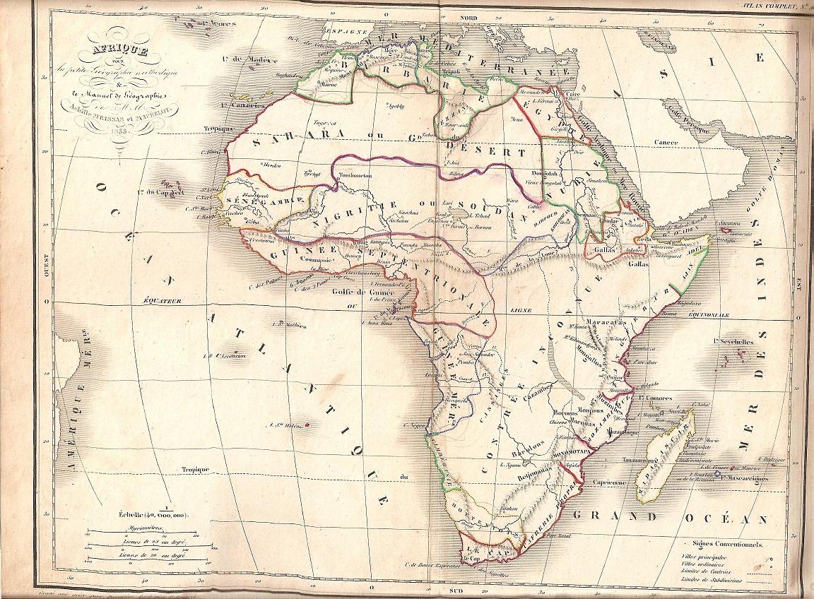 Carte De Lafrique Antique.File Carte Afrique 1853 Jpg Wikimedia Commons