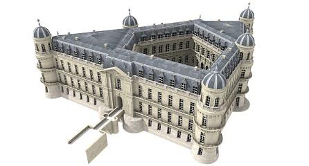 Domaine et château de Chantilly - Page 5 Chantilly_XVIIIeme_3D