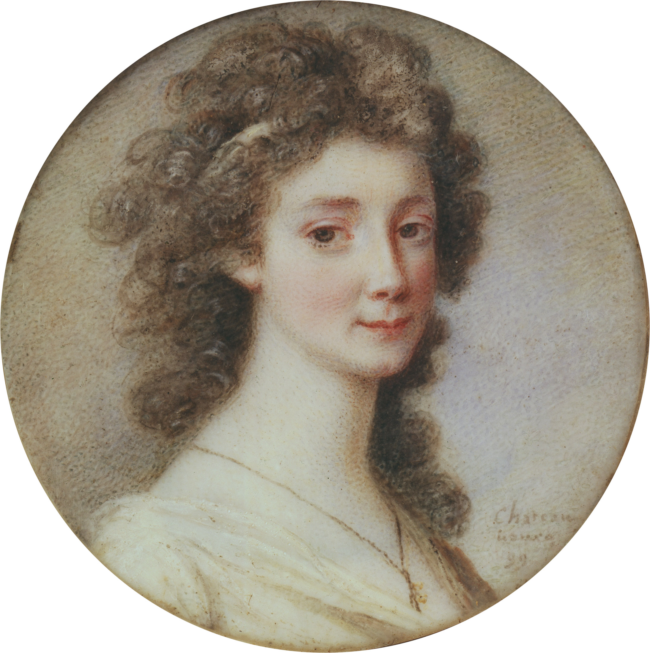 Portrait of Sophie Piper by Charles Joseph de La Celle chevalier de Chateaubourg (1758–1837)