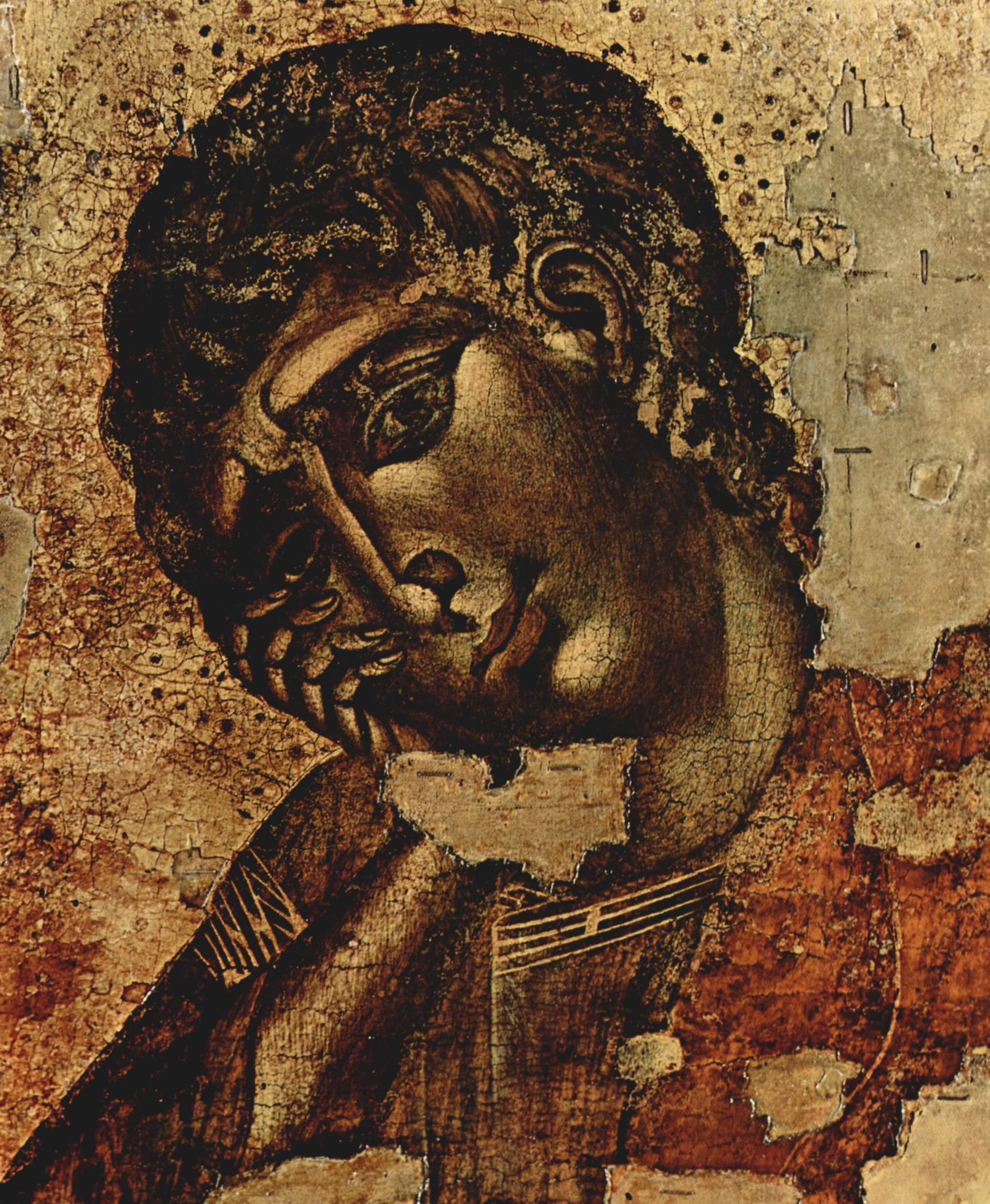 CIMABUE Crucifix (detail, John) 1287-1288