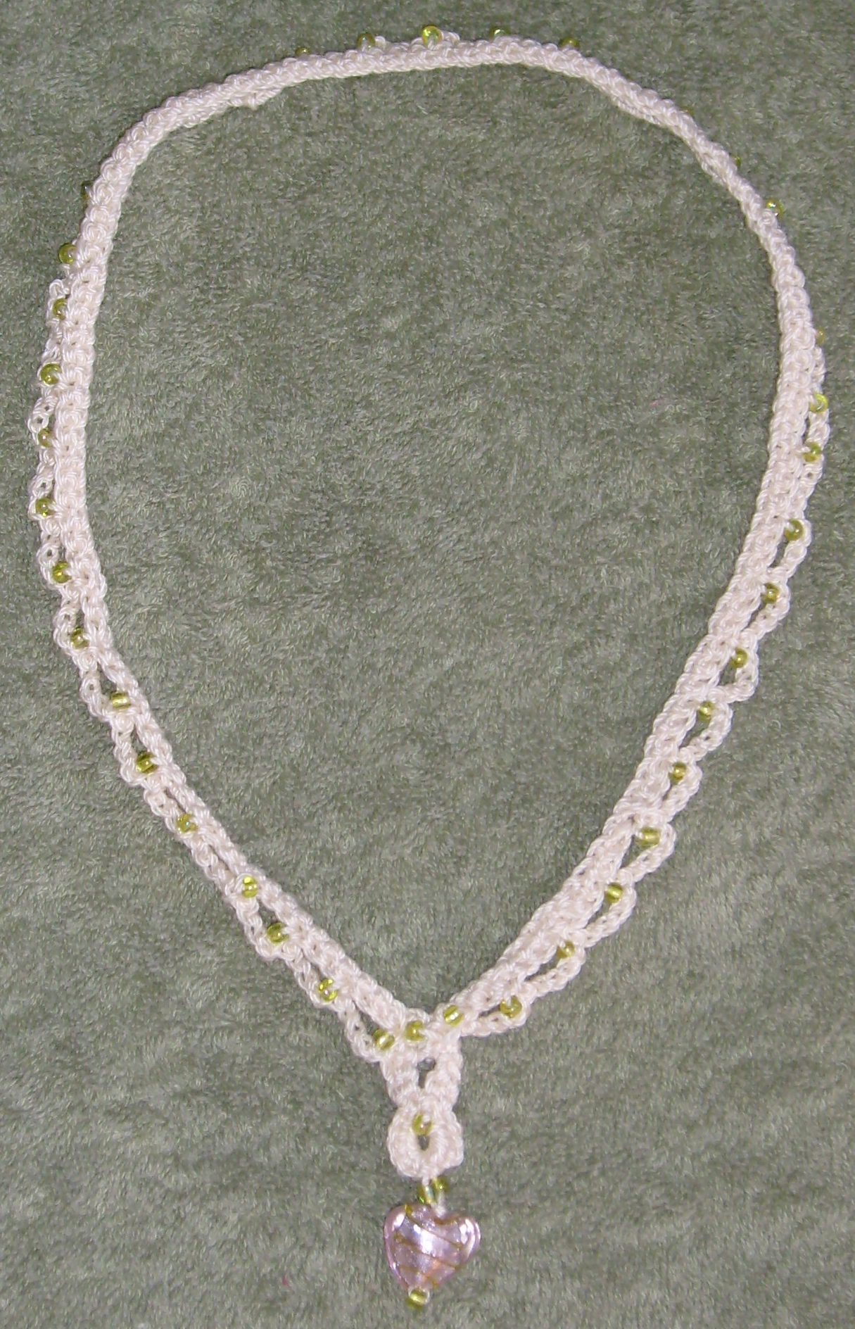 File:Crochet glass heart necklace.jpg - Wikimedia Commons