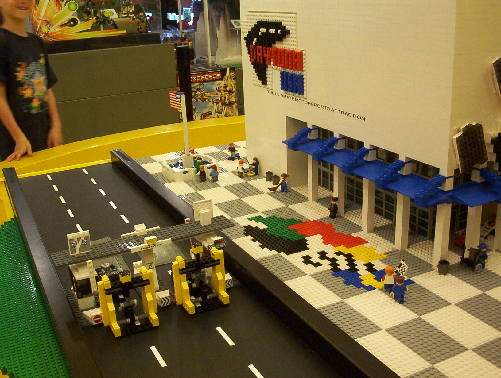 Description Daytona Pepsi 400 at the Lego Store in Downtown Disney.jpg