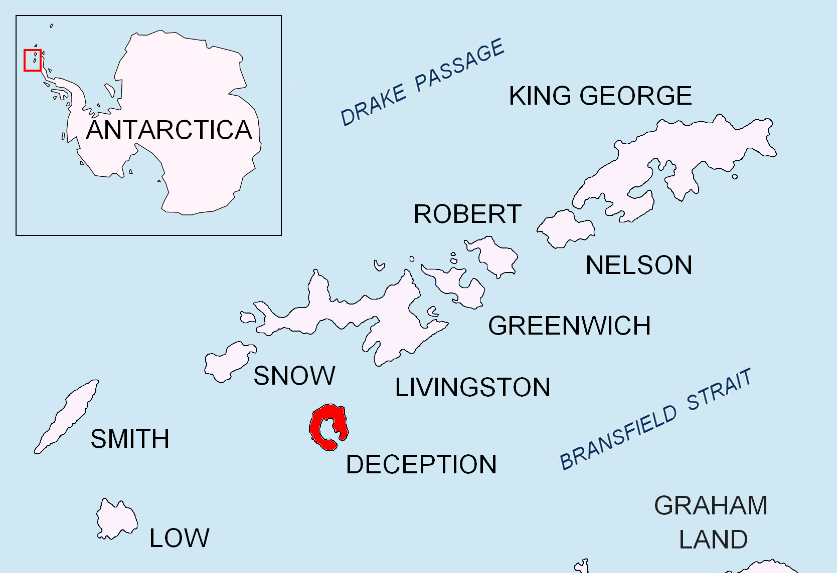 Deception Island, mappa