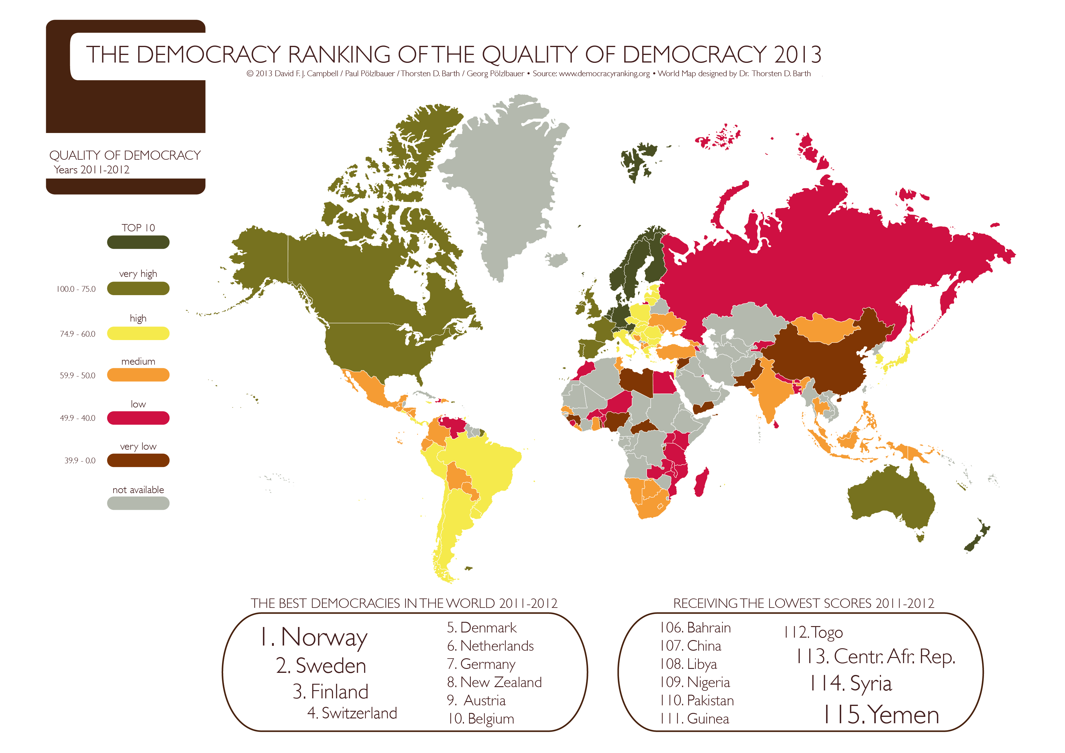 Austria norway on world map netherlands on world map belgium map filedemocracy ranking of the quality of democracy 2013 world map on netherlands on gumiabroncs
