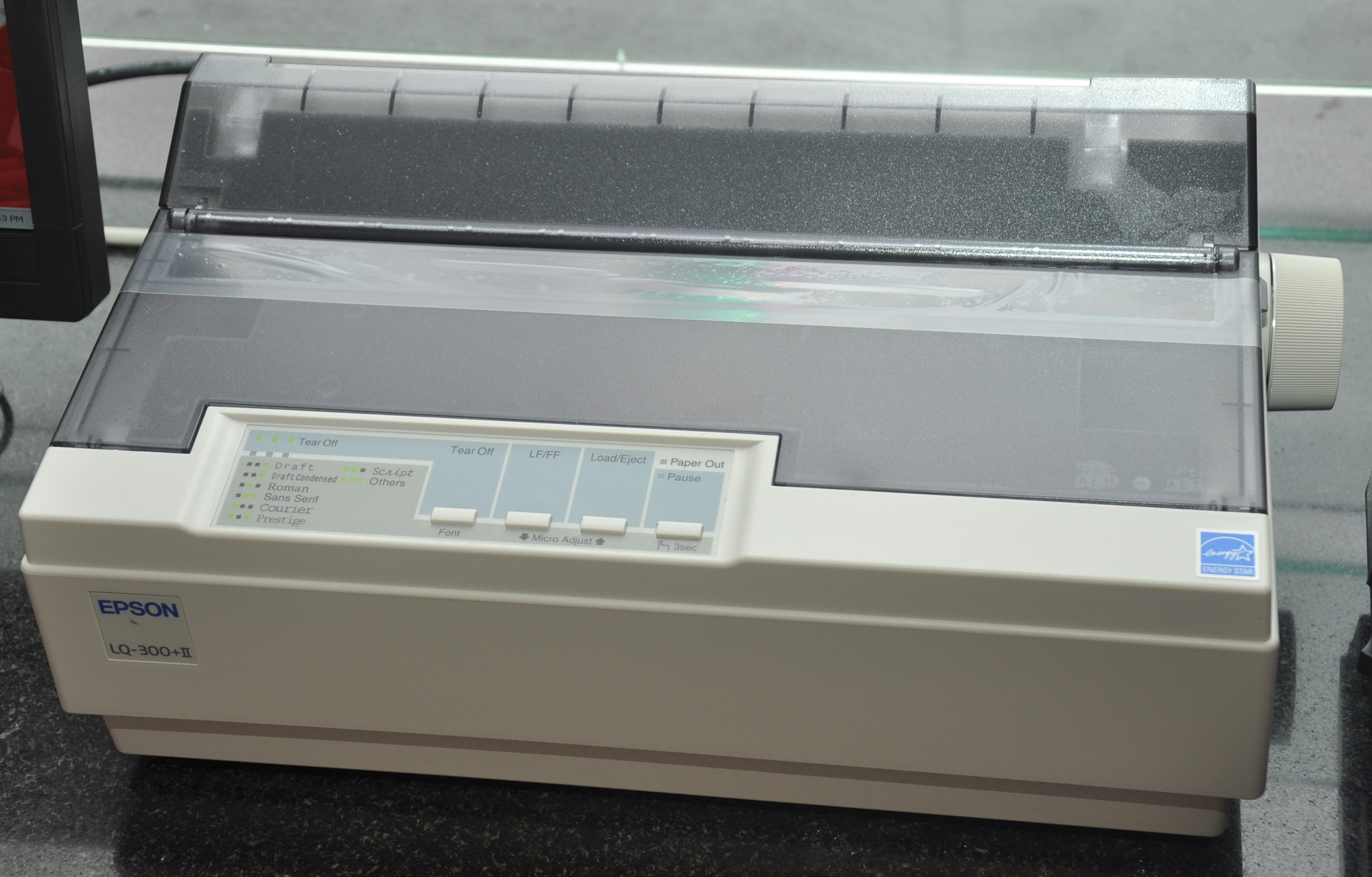 how to work dot matrix printer