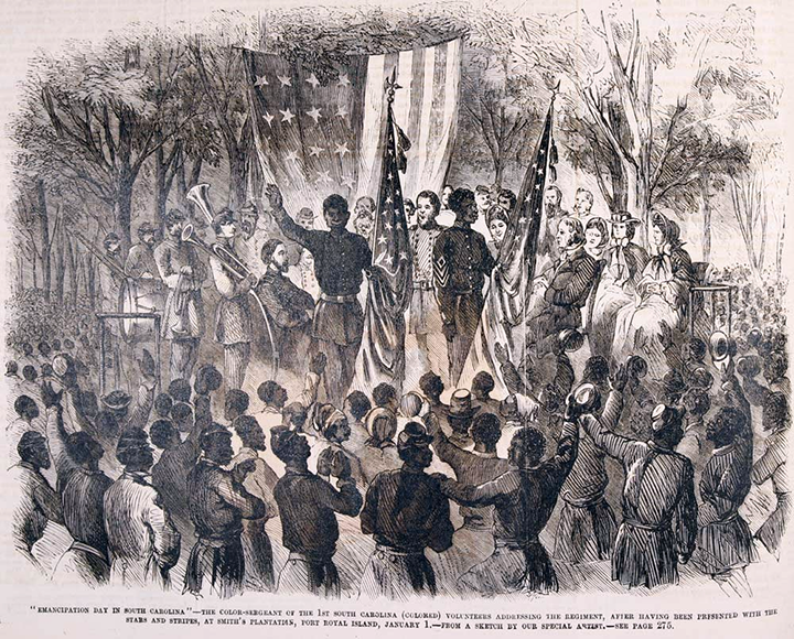 File:Emancipation Day in South Carolina (1863), by Frank Leslie's Illustrated Weekly.png