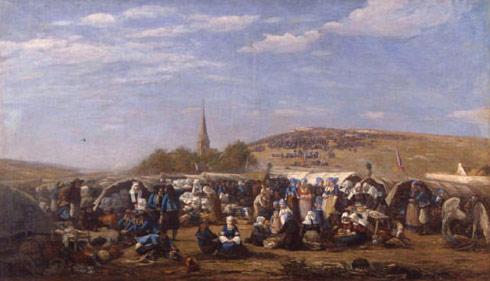 Eugène Boudin - Le pardon à Sainte-Anne-la-Palud (Finistère) vers 1858