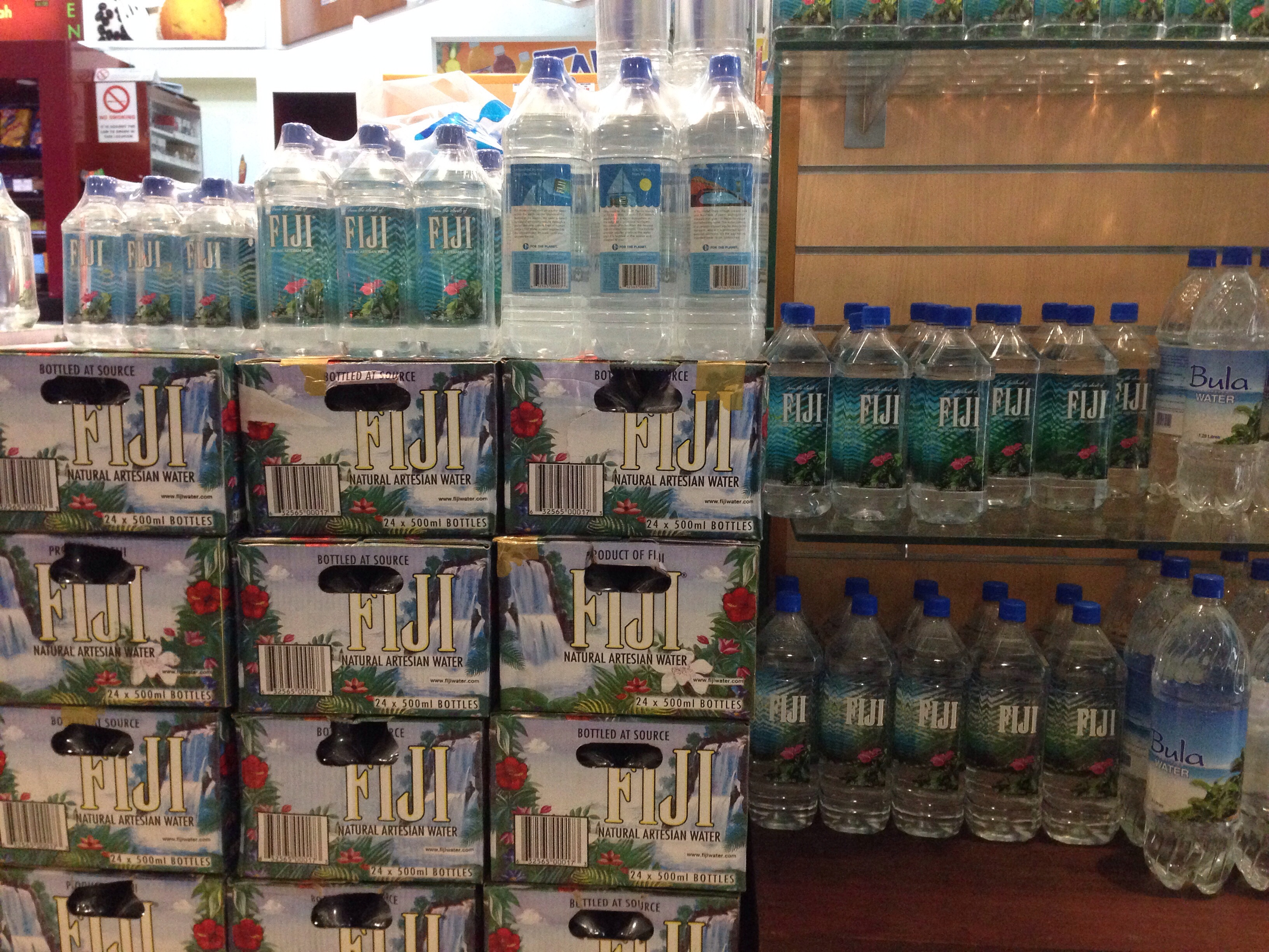 File Fiji Waters Bottles At An Airport Jpg Wikimedia Commons