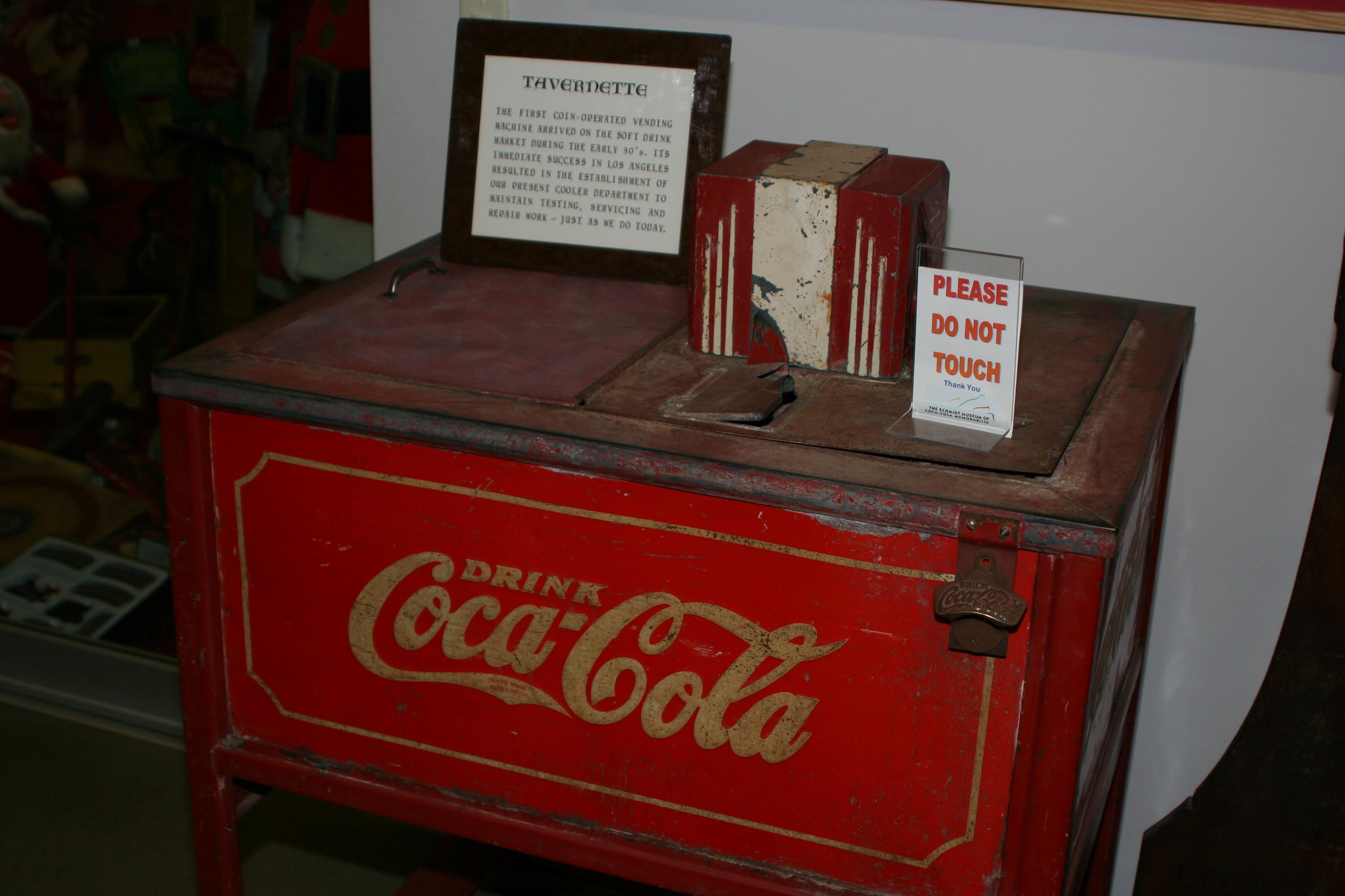 File:First Coca-Cola Vending Machine jpg - Wikimedia Commons