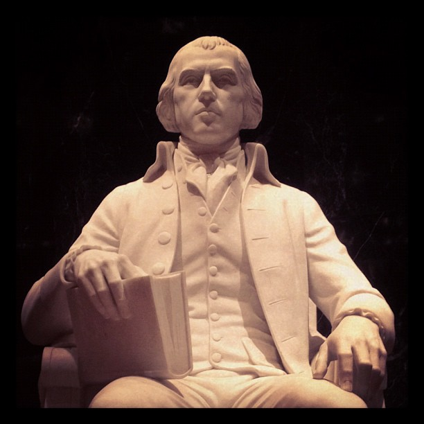 """president james madison James madison, jr (march 16, 1751 (os march 5) – june 28, 1836) was an american statesman and political theorist he was the fourth president of the united states (1809–1817) and is hailed as the """"father of the constitution"""" for being the primary author of the united states constitution and at first an opponent of, and then a key author of the united states bill of rights."""