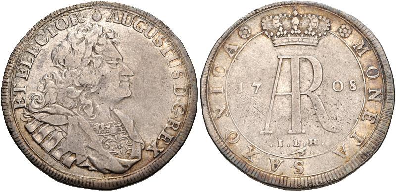 Friedrich August I., Reichstaler 1708, CNG