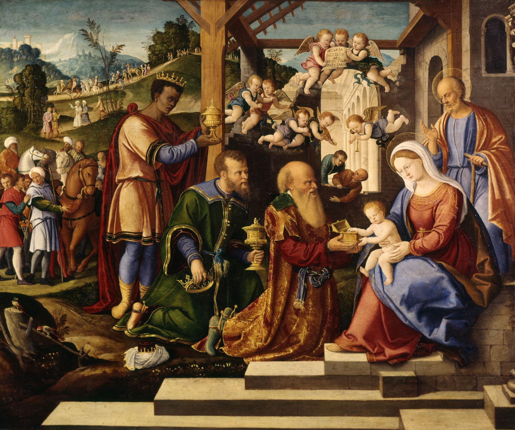Image result for wise men painting