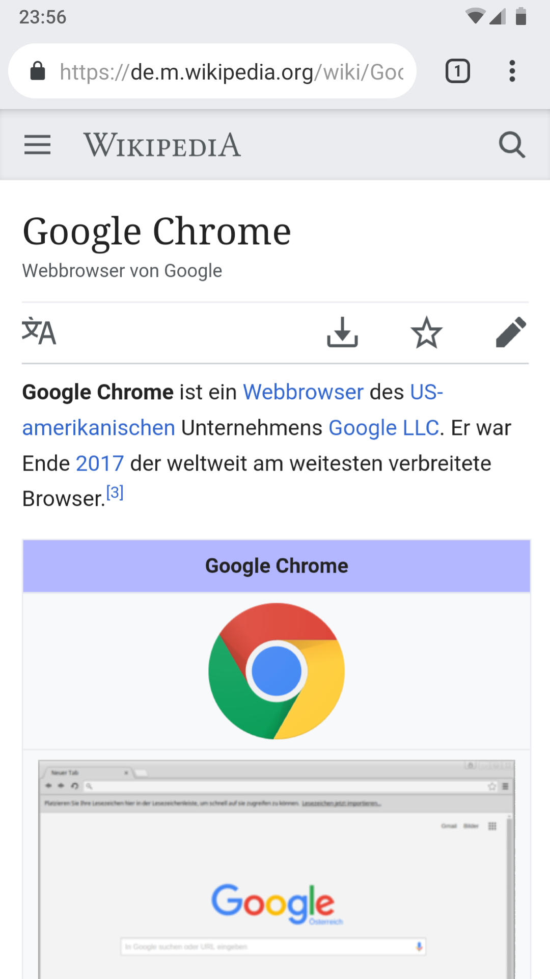 File:Google Chrome screenshot on Android png - Wikimedia Commons