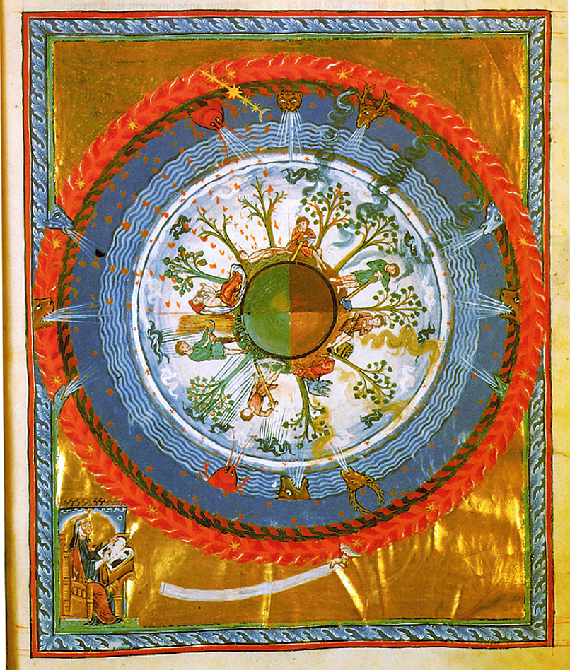 The seasons in turn, from a manuscript of Hildegarde of Bingen/