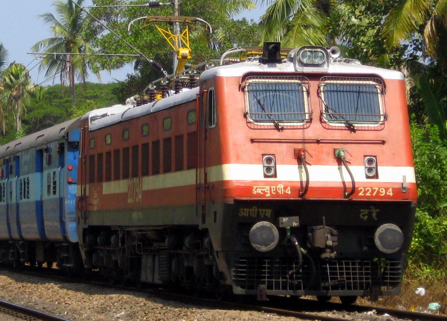 File Indian Railways Wap 4 Electric Locomotive Jpg