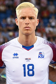 Iceland national football team World Cup 2018 (cropped) Magnússon.jpg