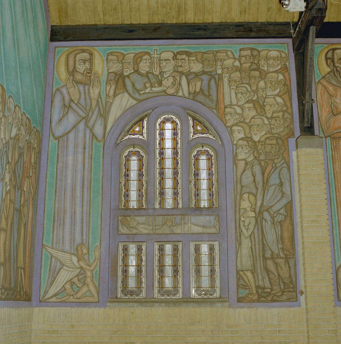File interieur muurschildering van evangelist mattheus for Interieur leiden