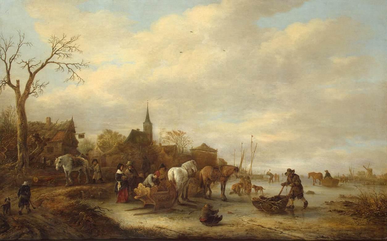 K Visser Oil Painting
