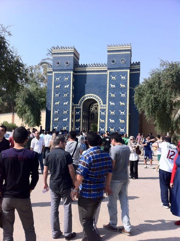 file ishtar gate babylon iraq jpg wikimedia commons