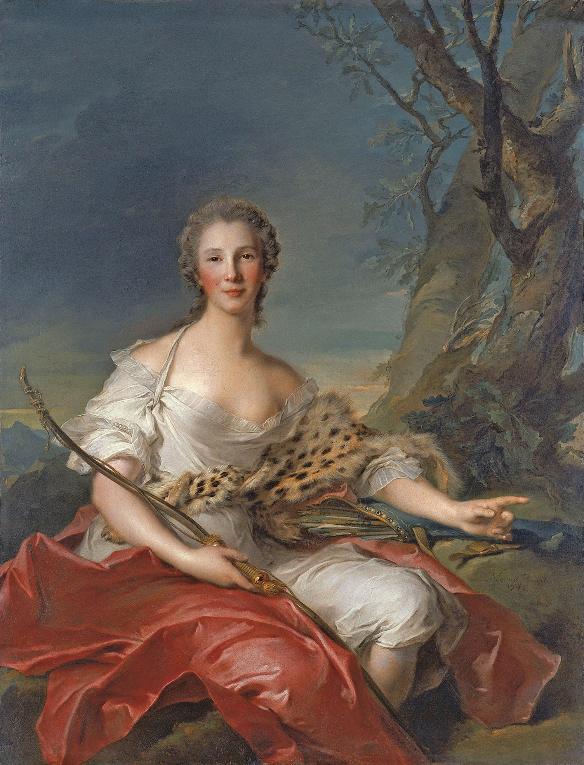 File:Jean-Marc Nattier, Retrato de Madame Bouret como Diana (1745)